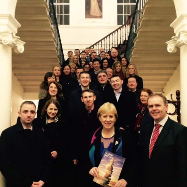 dcu business school alumni leinster house visit